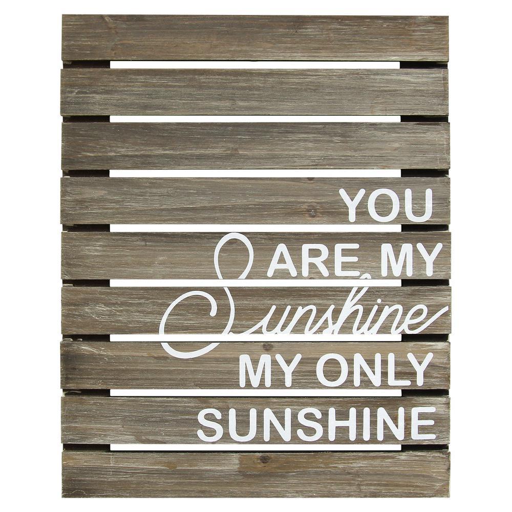 Internet #302856920. Stratton Home Decor You Are My Sunshine Plank Wood Art  Wall Decor