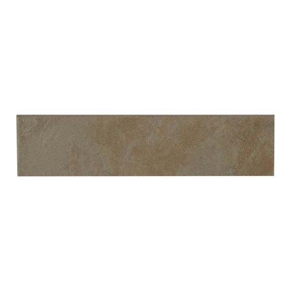 Continental Slate Brazilian Green 3 in. x 12 in. Porcelain Bullnose Floor and Wall Tile (0.25702 sq. ft. / piece)