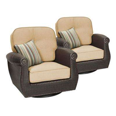 Breckenridge Swivel Wicker Outdoor Lounge Chair with Sunbrella Spectrum Sand Cushion (2-Pack)  sc 1 st  The Home Depot & La-Z Boy - Patio Chairs - Patio Furniture - The Home Depot islam-shia.org