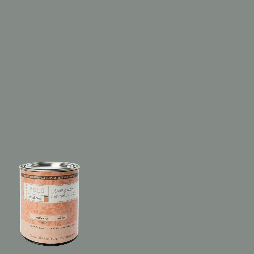 YOLO Colorhouse 1-Qt. Stone .07 Flat Interior Paint-DISCONTINUED