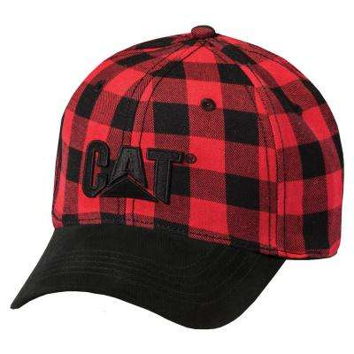 Trademark Men's One Size Red Buffalo Plaid Cotton Canvas Cap Headwear