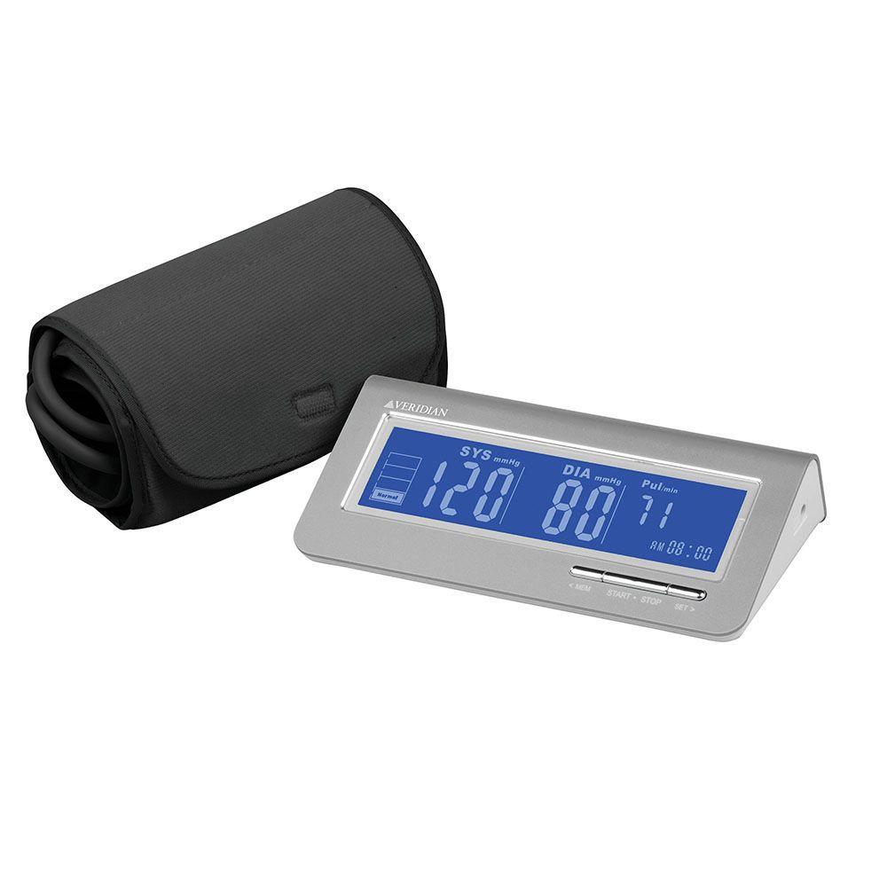Digital Blood Pressure Arm Monitor in Silver