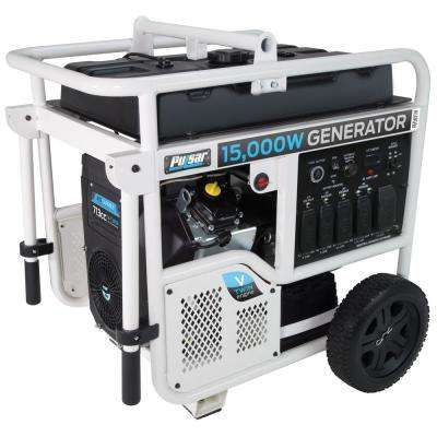 15,000/12,000-Watt Gasoline Powered Electric/Recoil Start Portable Generator with V-Twin 713 cc Ducar Engine