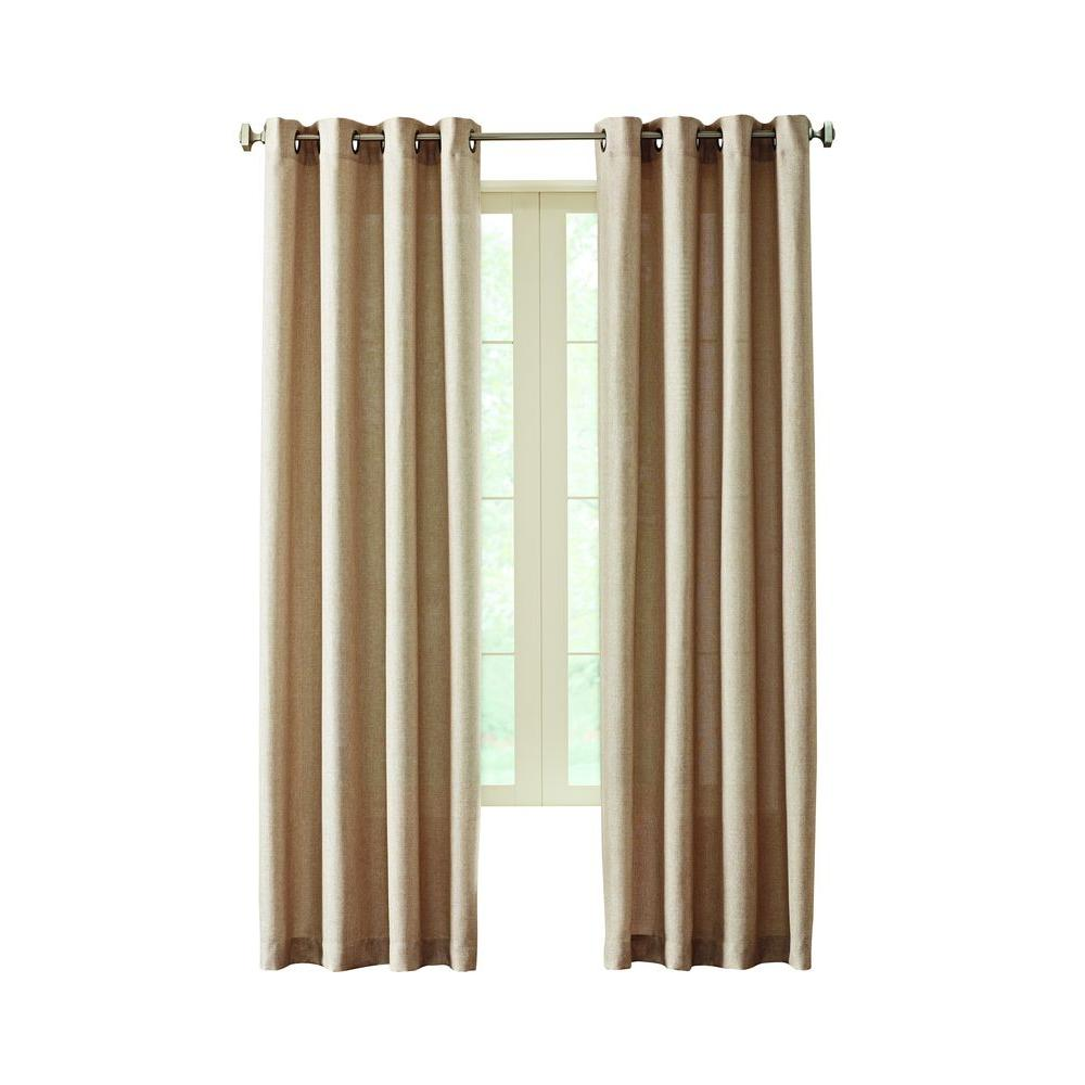 Home Decorators Collection Semi Opaque Linen Hudson Grommet Curtain 50 In W X 63 In L