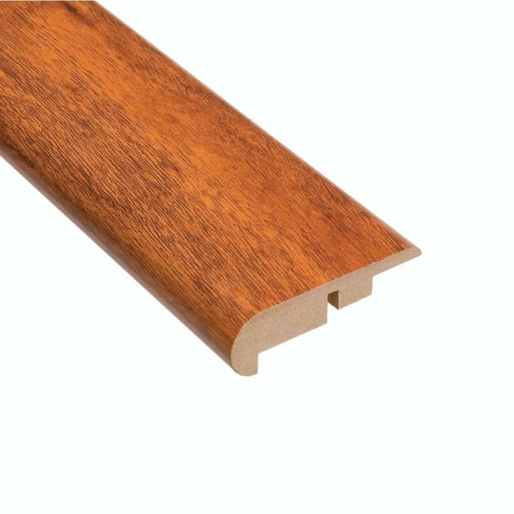 Hampton Bay High Gloss Jatoba 11.13 mm Thick x 2-1/4 in. Wide x 94 in. Length Laminate Stair Nose Molding-DISCONTINUED