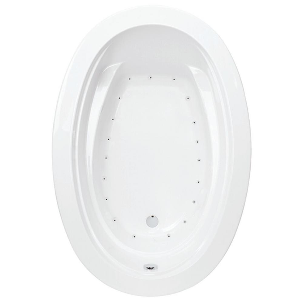 Aquatic Belmont I 5 ft. Reversible Drain Acrylic Air Bath Tub in White