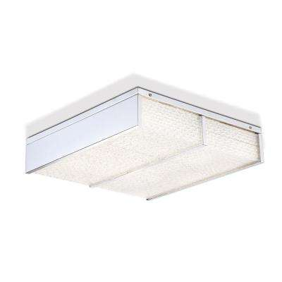 Wynn Collection 36-Watt Chrome Integrated LED Flushmount