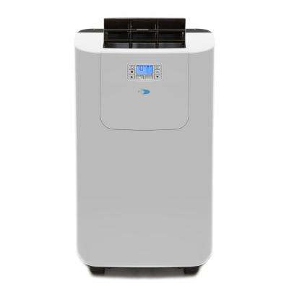 Elite 12,000 BTU Dual Hose Digital Portable Air Conditioner with Heat/Drain Pump and Dehumidifier