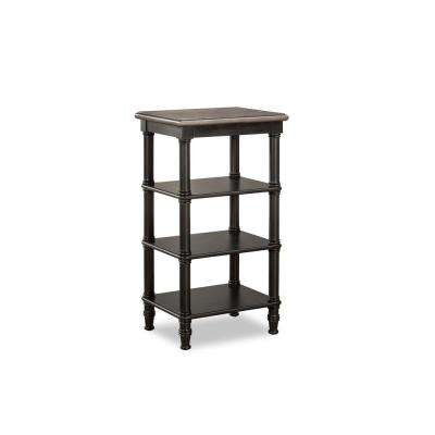 Seneca Waxed Black Basket Stand - Baskets Not Included