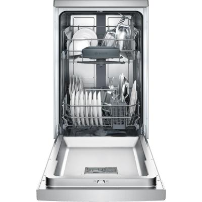 300 Series 18 in. ADA Compact Front Control Dishwasher in Stainless Steel with Stainless Steel Tub, 46dBA