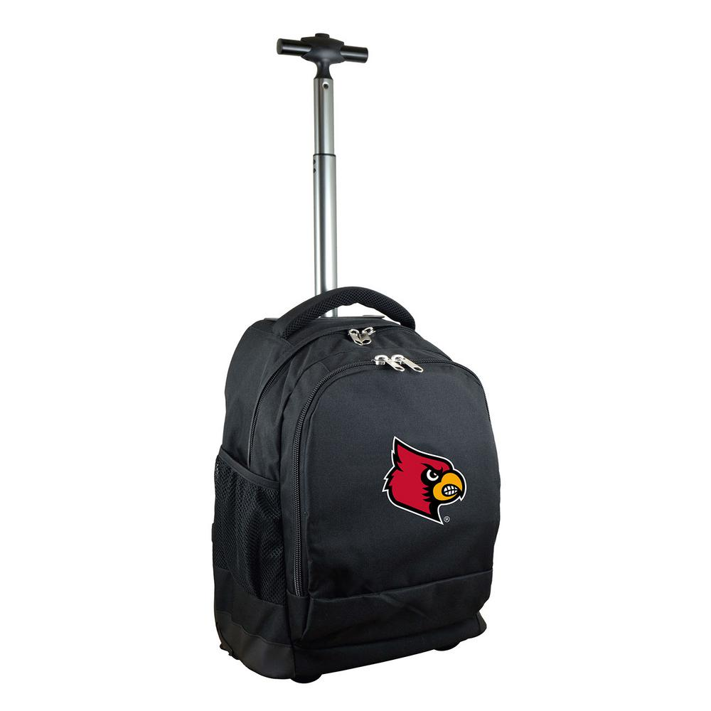 NCAA Louisville 19 in. Black Wheeled Premium Backpack