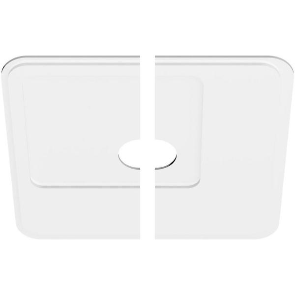 Ekena Millwork 1 In P X 12 1 2 In C X 36 In Od X 6 In Id Lucan Architectural Grade Pvc Contemporary Ceiling Medallion Two Piece Cmp36ln2 06000 The Home Depot
