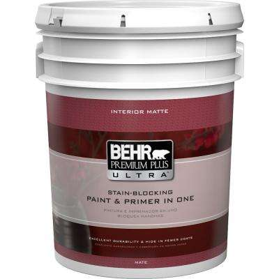 5 gal. Ultra Pure White Flat Matte Interior Paint