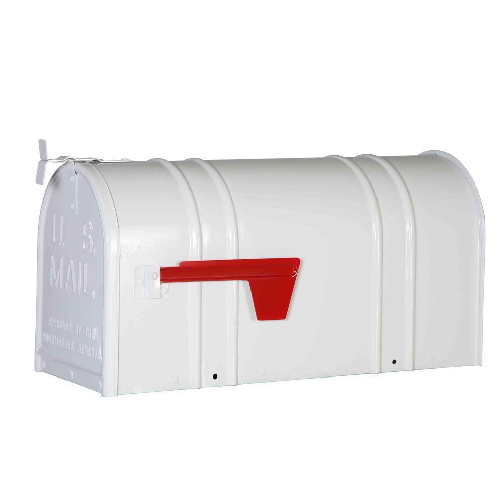 Postal Pro Carlton Post Mount T2 Mailbox, White