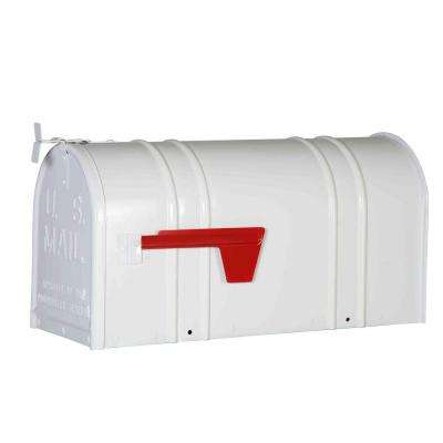 Postal Pro Carlton Post Mount T2 Mailbox, White