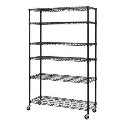 74 in. H x 48 in. W x 18 in. D 6-Shelf Steel Wire Shelving Unit with Wiring Shelves on interior shelves, wood shelves, piping shelves, three shelves, plumbing shelves, concrete shelves, kitchen shelves, frame shelves, radiator shelves, parts shelves, security shelves, drywall shelves, blue shelves, welding shelves,
