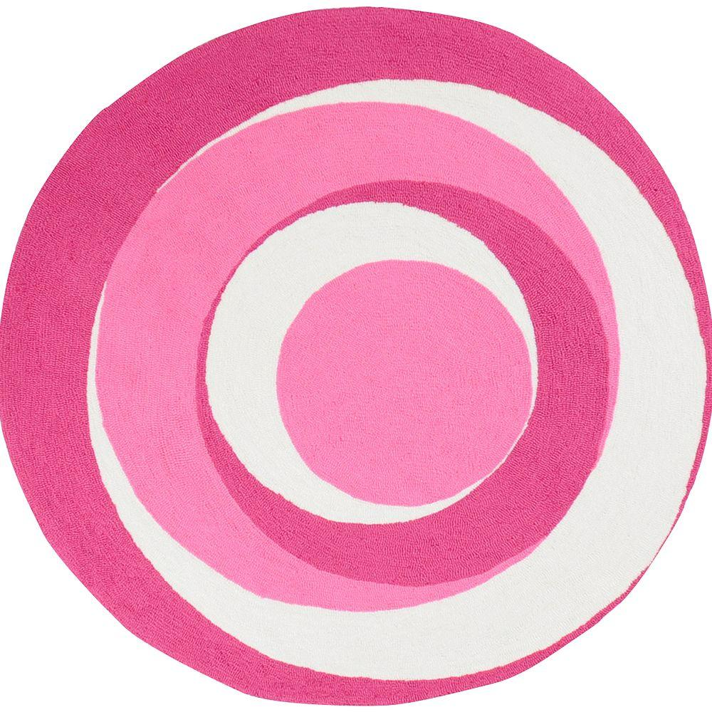 Artistic Weavers Abigail Hot Pink Polyester 6 ft. Round Area Rug-DISCONTINUED