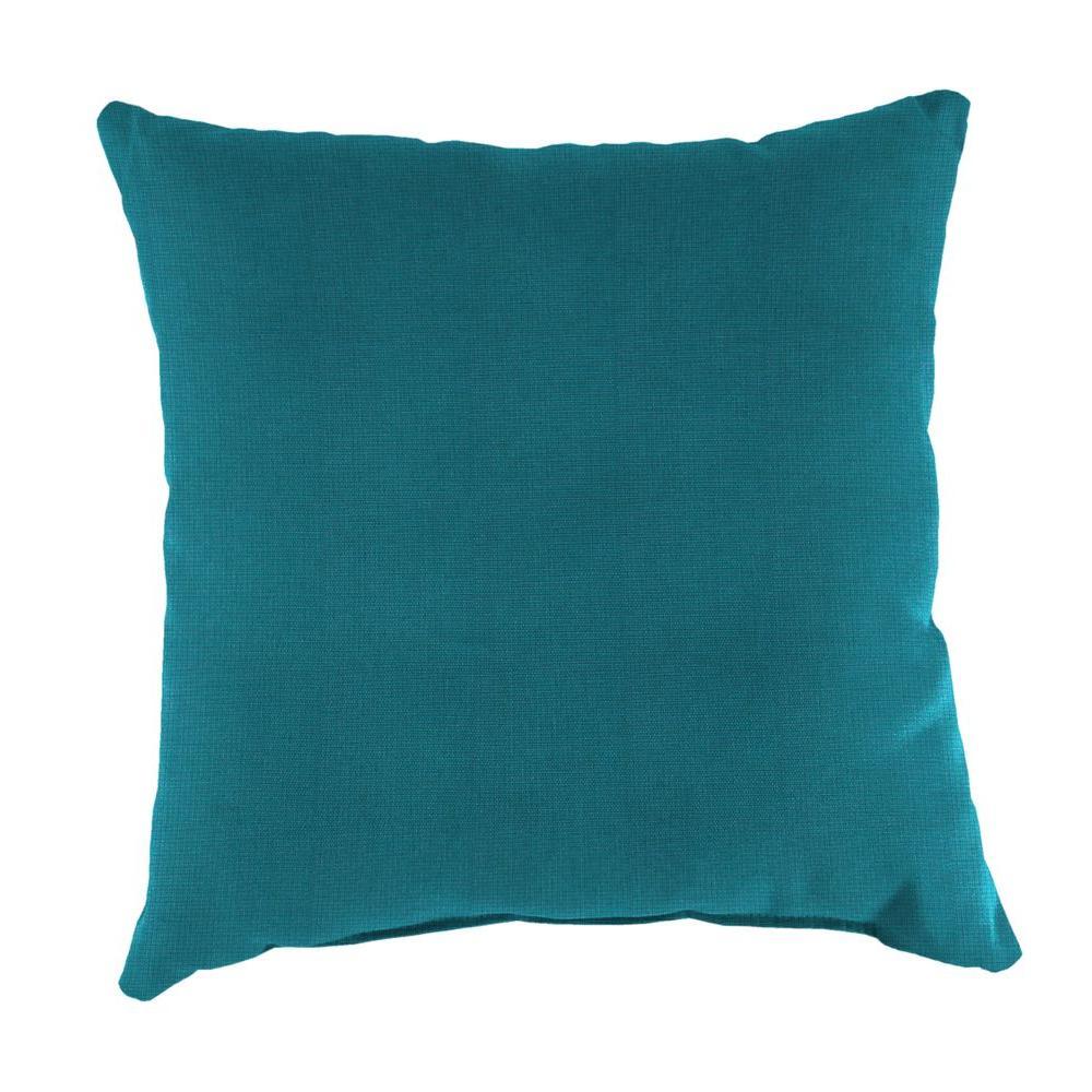 Sunbrella Spectrum Peacock Square Outdoor Throw Pillow