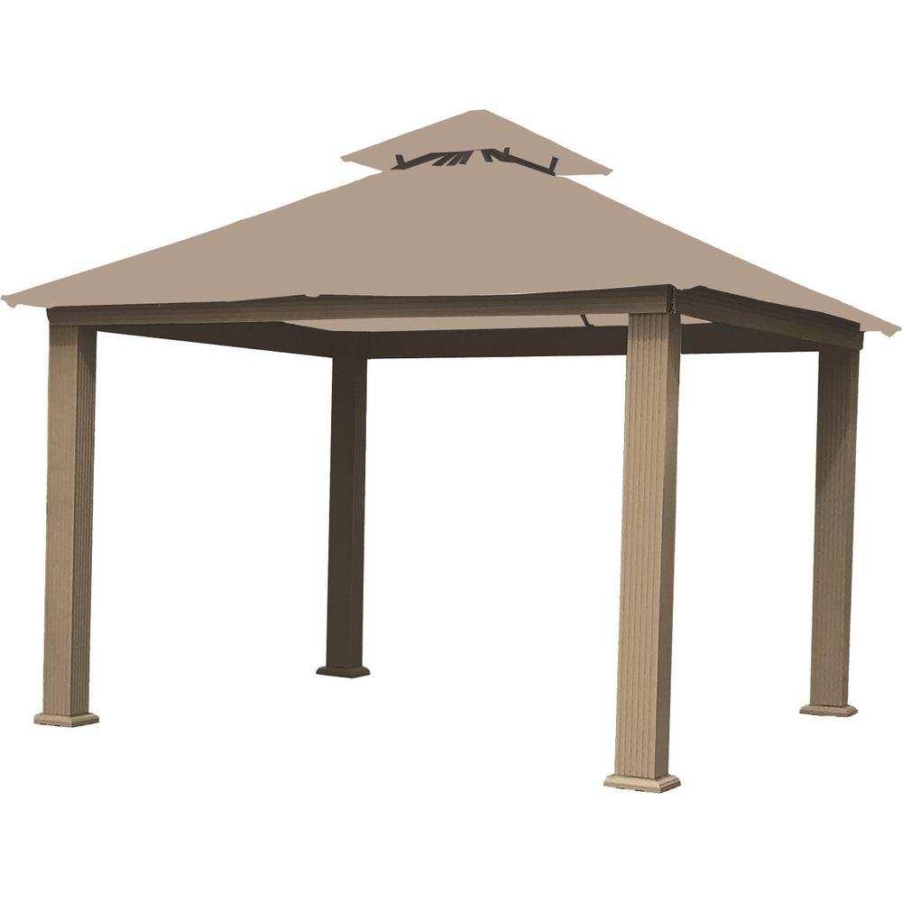 14 ft. x 14 ft. Antique Beige Gazebo