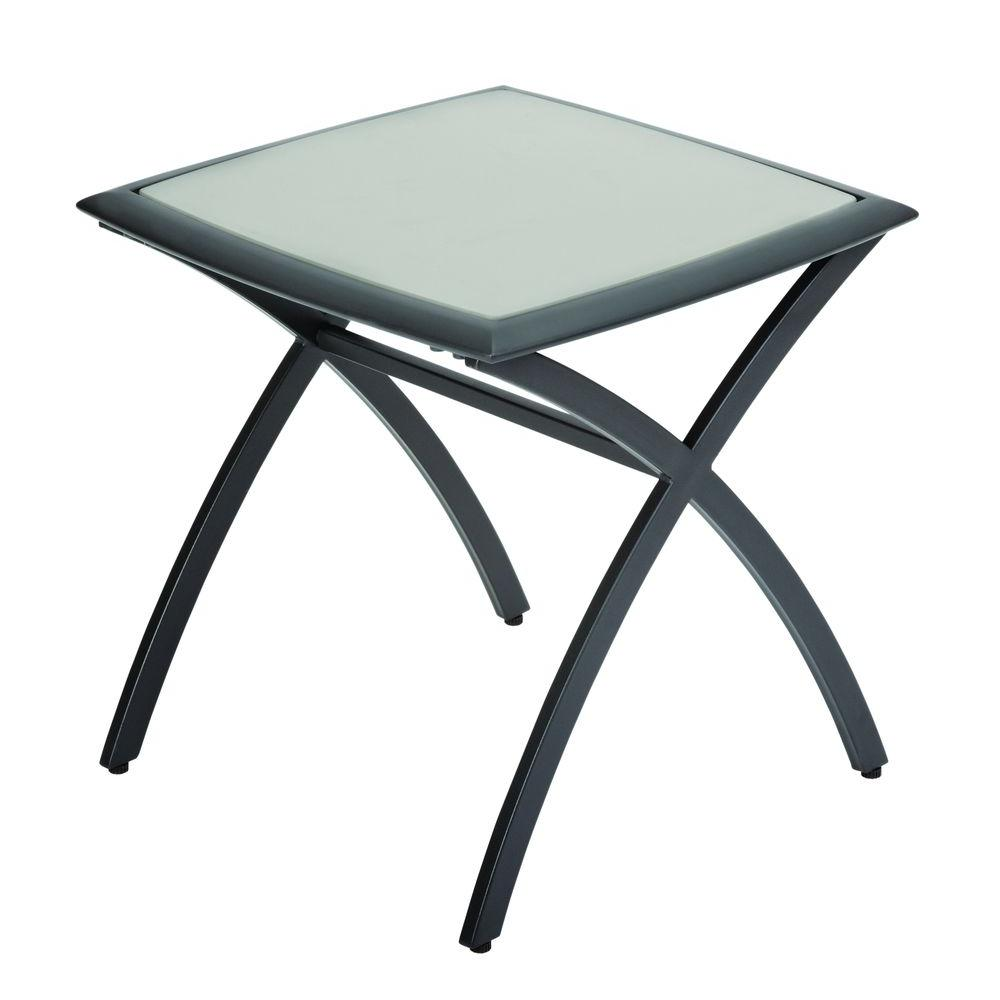 Hampton Bay Marwood 22 in. Patio Accent Table
