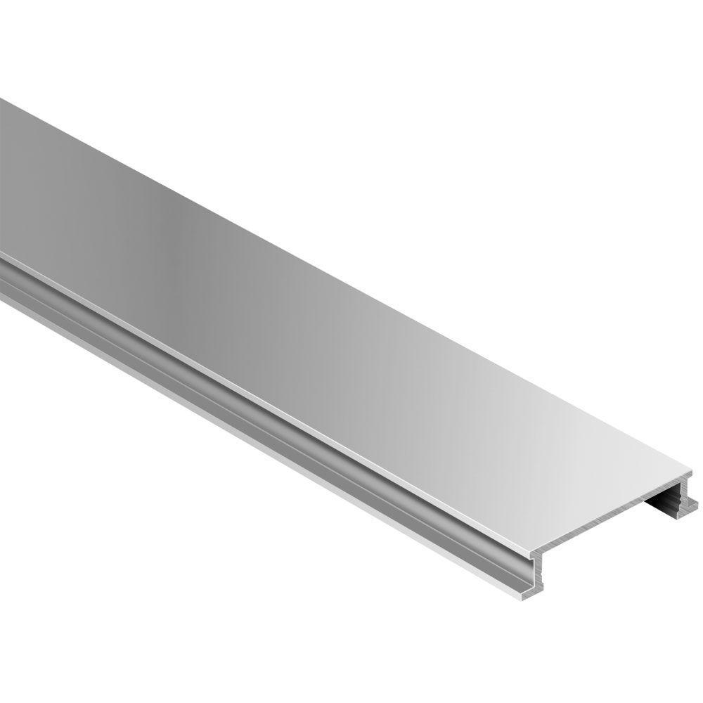 Schluter Designline Satin Anodized Aluminum 1/4 in. x 8 ft. 2-1/2 in ...