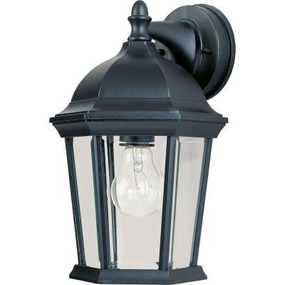 Builder Cast 1-Light Black Outdoor Wall Mount Sconce