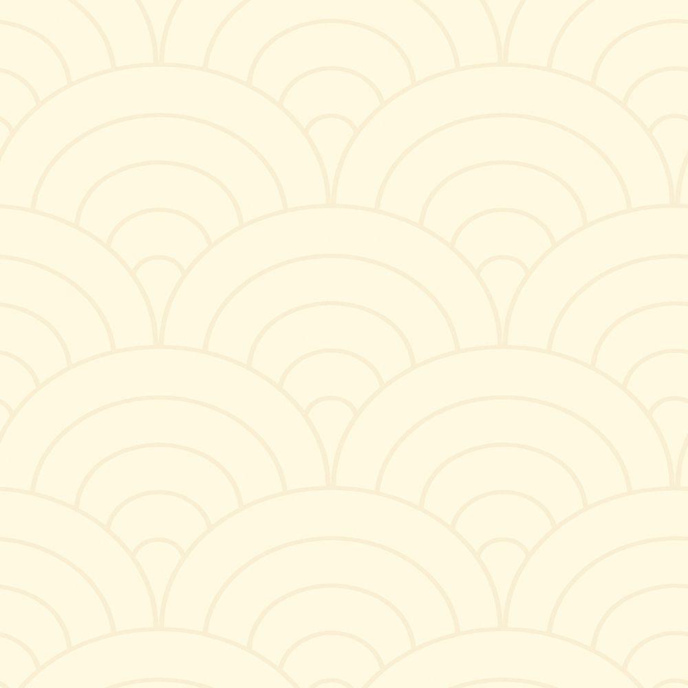 The Wallpaper Company 56 sq. ft. Ivory Modern Spiral Wallpaper