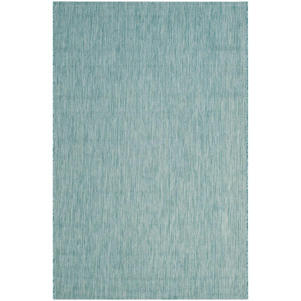 Courtyard Aqua 7 ft. x 10 ft. Indoor/Outdoor Area Rug