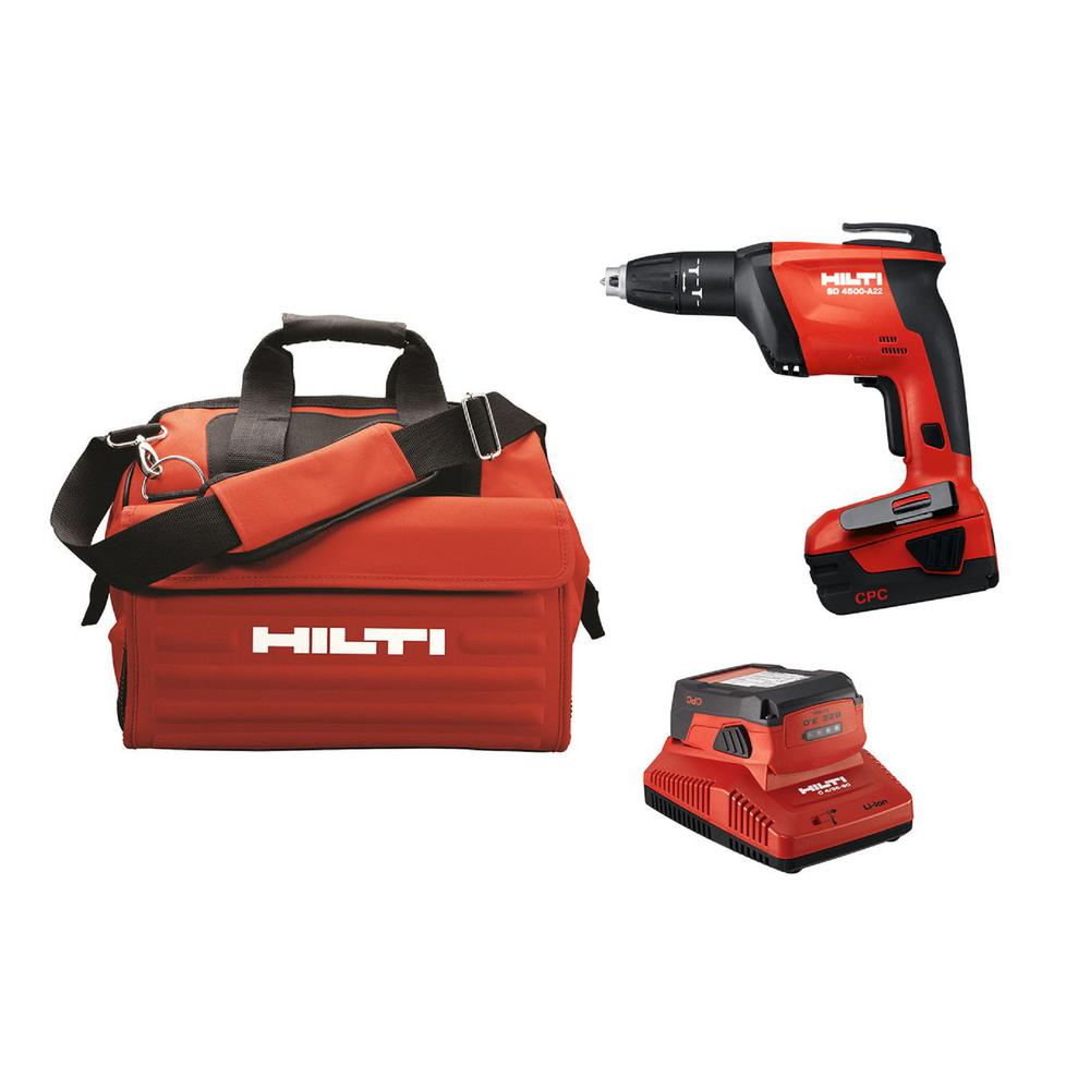 Hilti 22-Volt SD 4500 Advanced Compact Battery Cordless Drywall Screwdriver with Tool Bag