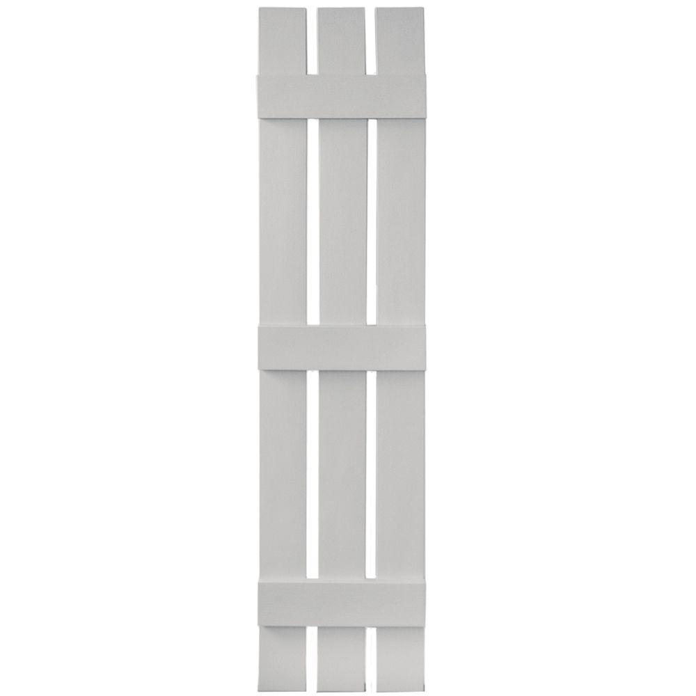 12 in. x 55 in. Board-N-Batten Shutters Pair, 3 Boards Spaced
