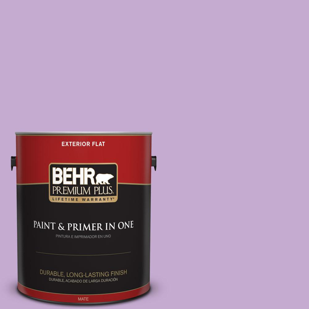 BEHR Premium Plus 1-gal. #660B-4 Pale Orchid Flat Exterior Paint