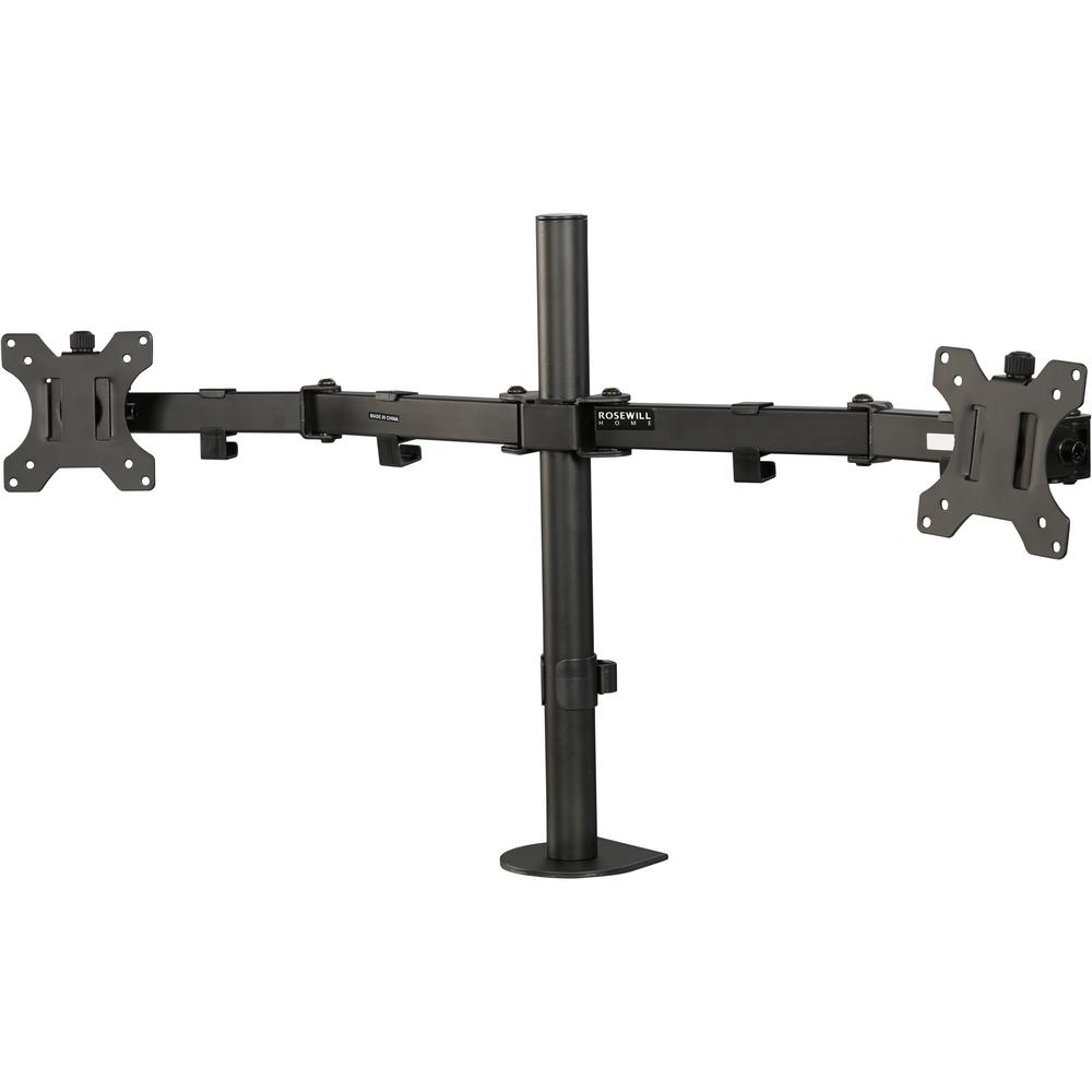 Dual Monitor Desk Mount, Swivel and Rotate, 13 in. to 32