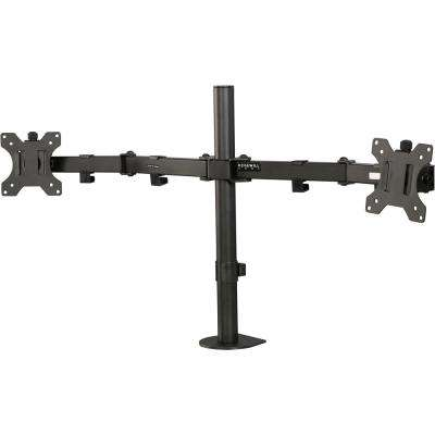 Dual Monitor Desk Mount, Swivel and Rotate, 13 in. to 32 in. Up To 17 Lbs. (Per Arm)