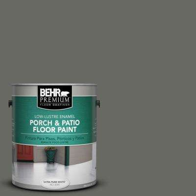 1 gal. #PPU18-18 Mined Coal Low-Lustre Porch and Patio Floor Paint