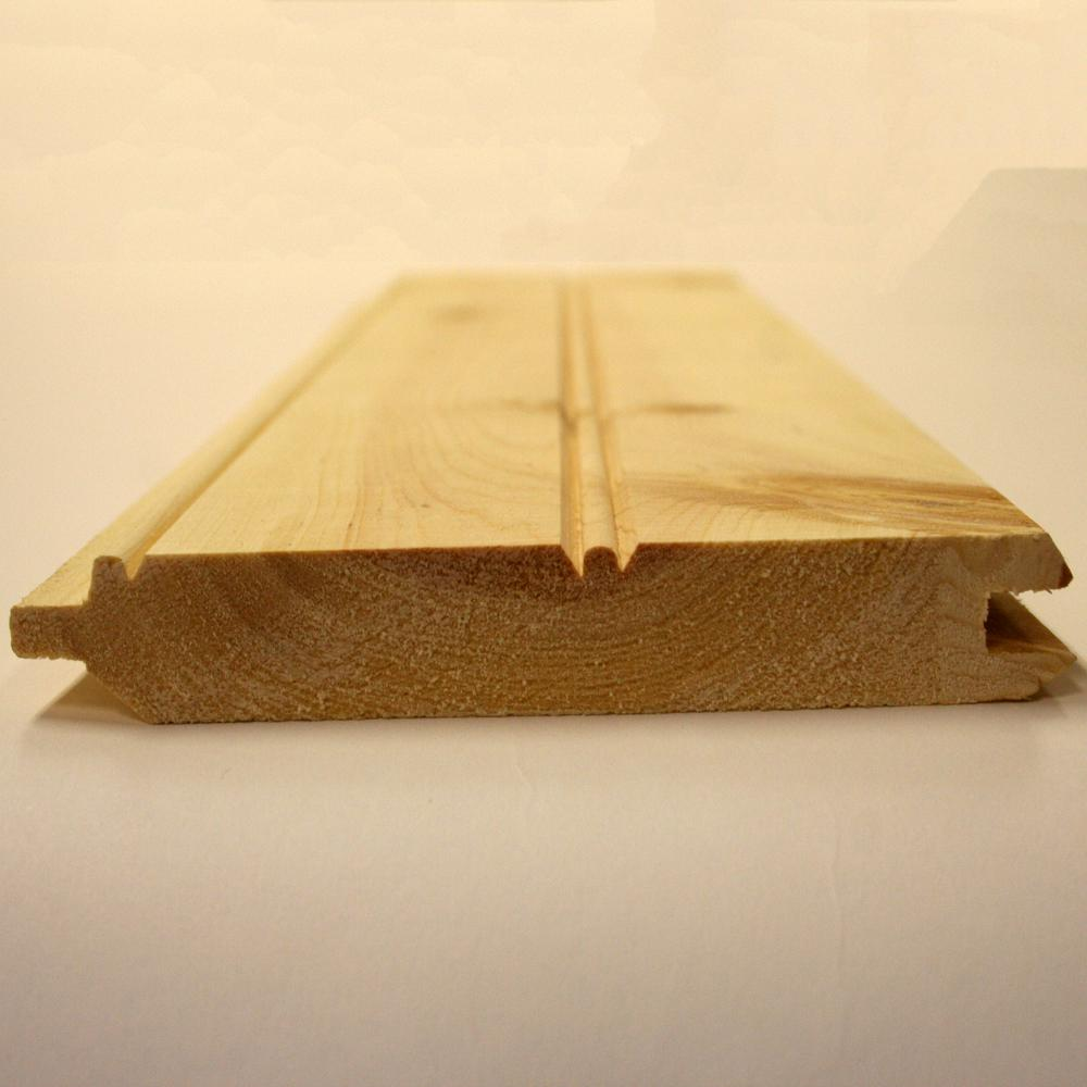 1 In X 6 In X 12 Ft Pine Board Pattern Tongue And