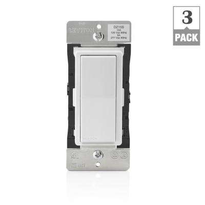 Decora Smart with Z-Wave Technology 15 Amp Switch, White/Light Almond (3-Pack)