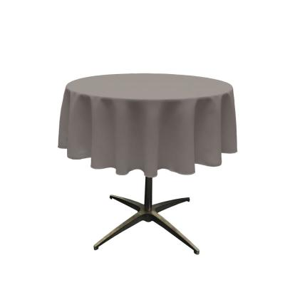Polyester Poplin Dark Gray 51 in. Round Tablecloth