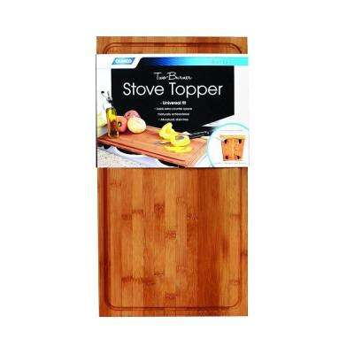 Bamboo 2-Burner Stove Top Work Surface