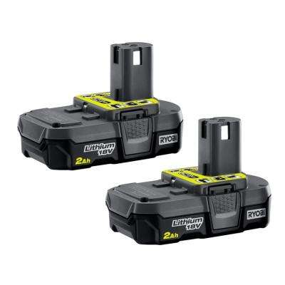 18-Volt ONE+ 2.0Ah Compact Lithium-Ion Battery (2-Pack)