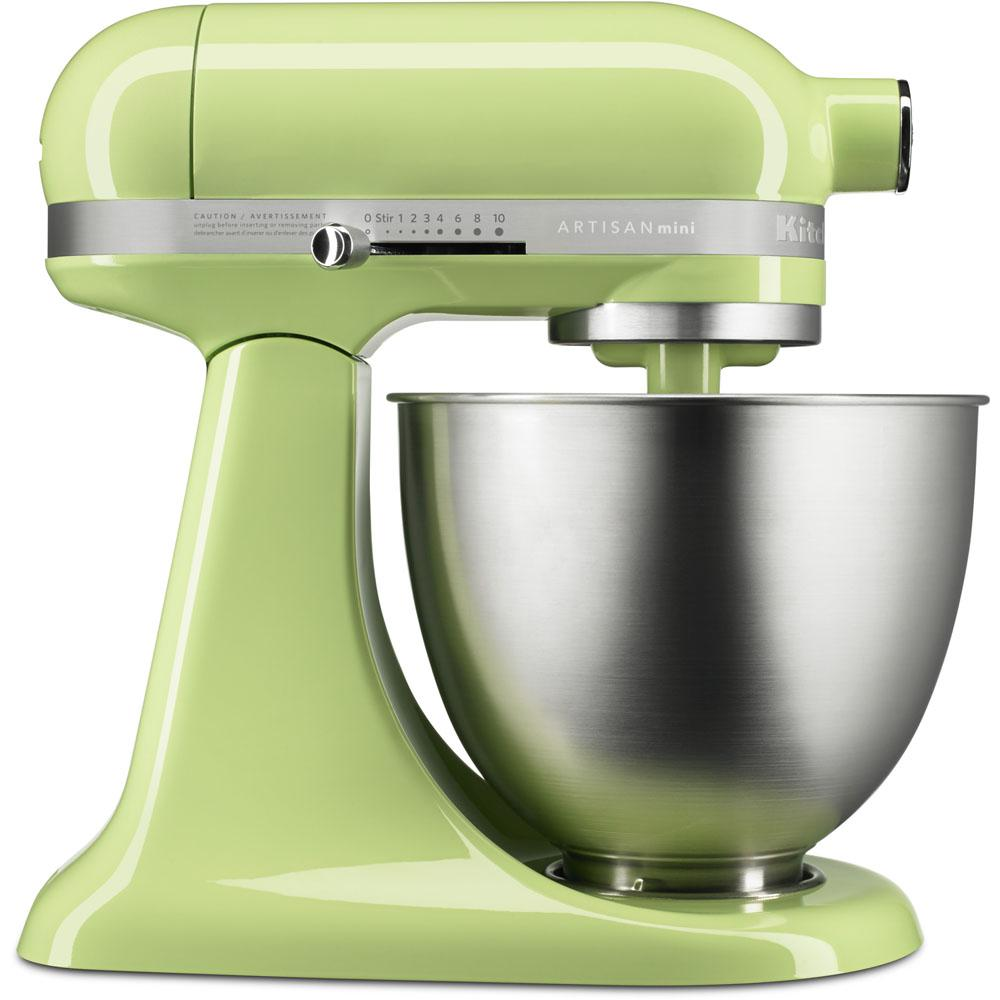 kitchenaid artisan mini 3 5 qt tilt head honeydew stand mixer ksm3311xhw the home depot. Black Bedroom Furniture Sets. Home Design Ideas