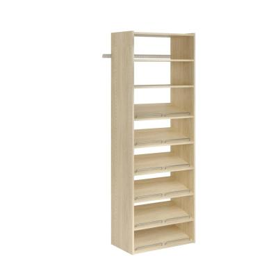 25.125 in. W . Essential Shoe Harvest Grain Wood Tower Closet System