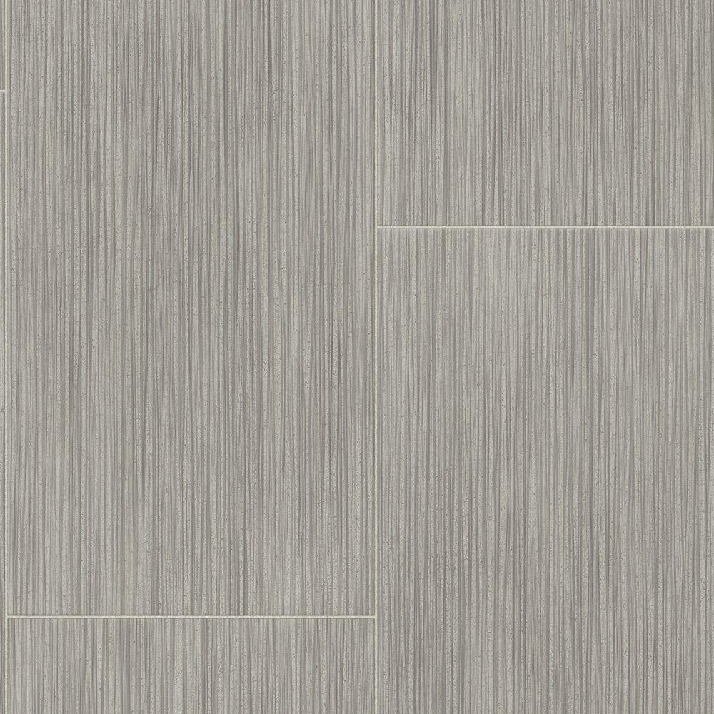 Grey Ceramic Residential/Light Commercial Vinyl Sheet Flooring 12ft. Wide x Cut to Length
