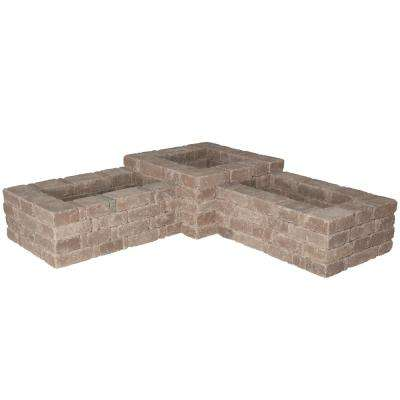 RumbleStone 73.5 in. x 17.5 in. x 73.5 in. Concrete 90° Planter Kit in Cafe
