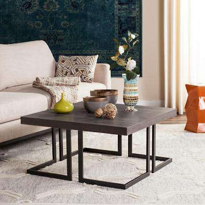 Amalya Modern Mid Century Wood Dark Gray Coffee Table
