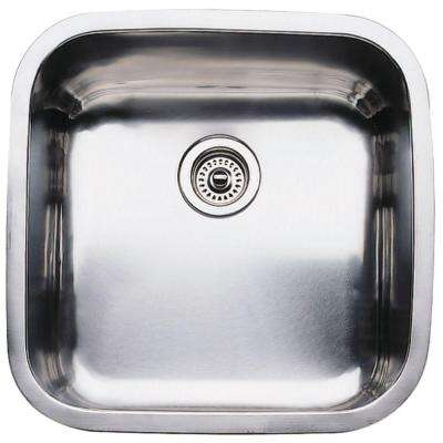 Supreme Undermount Stainless Steel 20.5 Large Single Bowl Kitchen Sink