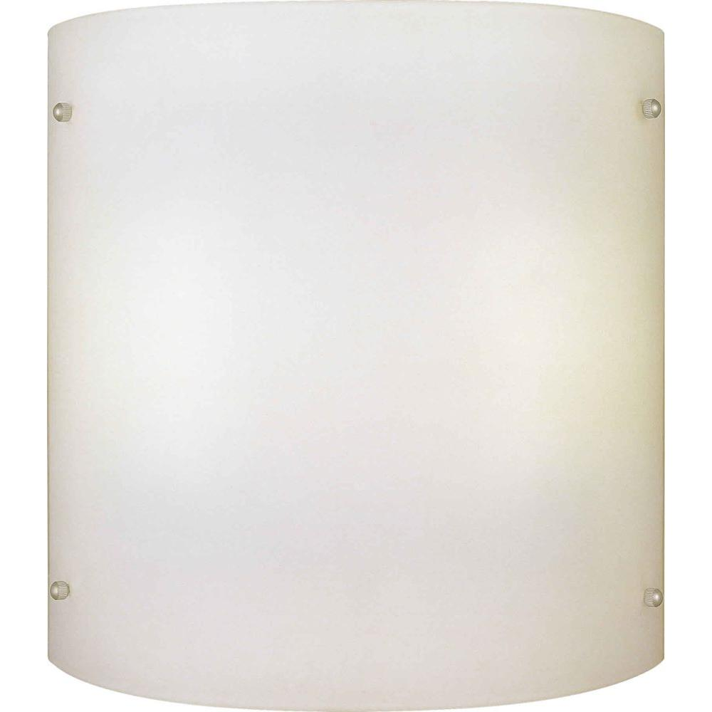 Illumine 2 Light Wall Sconce Brushed Nickel Finish Satin Opal Glass-DISCONTINUED