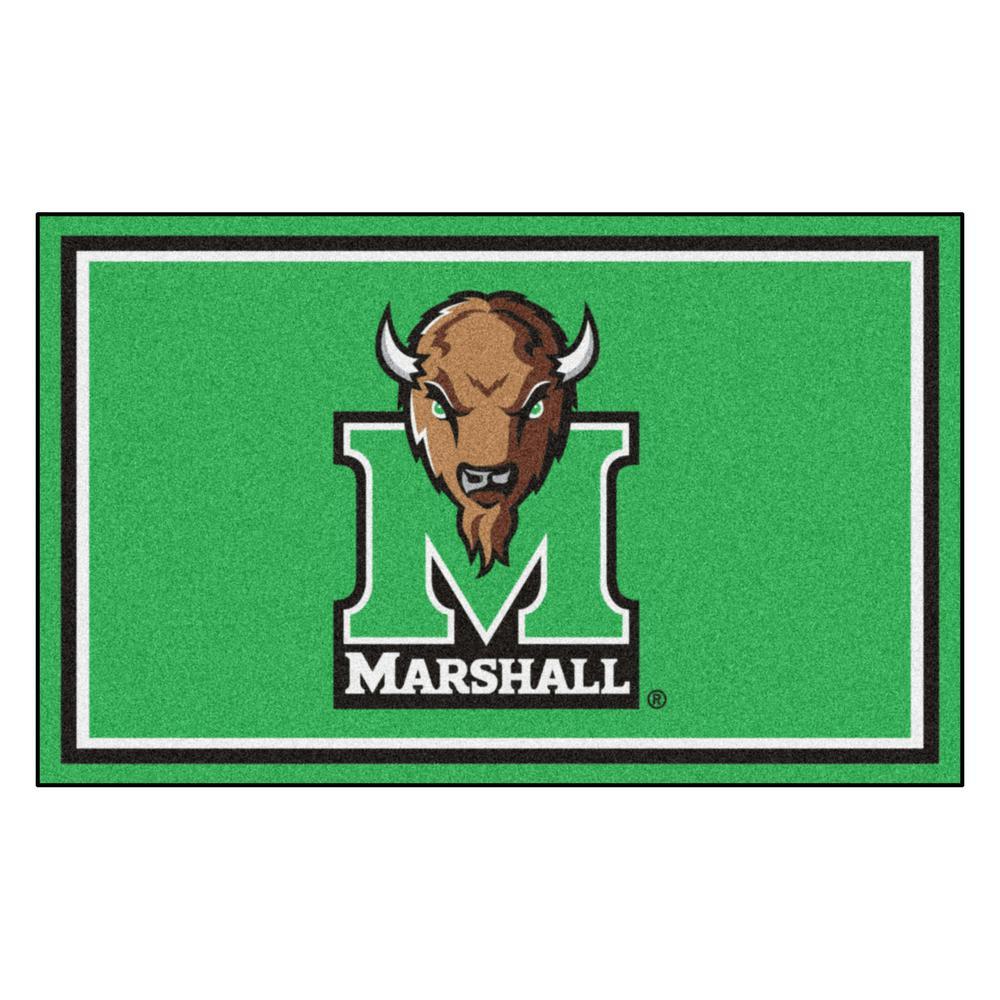 NCAA - Marshall University Green 6 ft. x 4 ft. Indoor