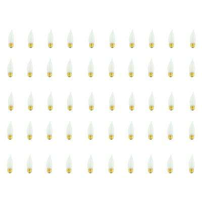 25-Watt CA10 Frost Dimmable Warm White Light Incandescent Light Bulb (50-Pack)