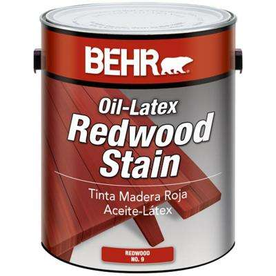 1 gal. Redwood Solid Color Oil-Latex Exterior Wood Stain