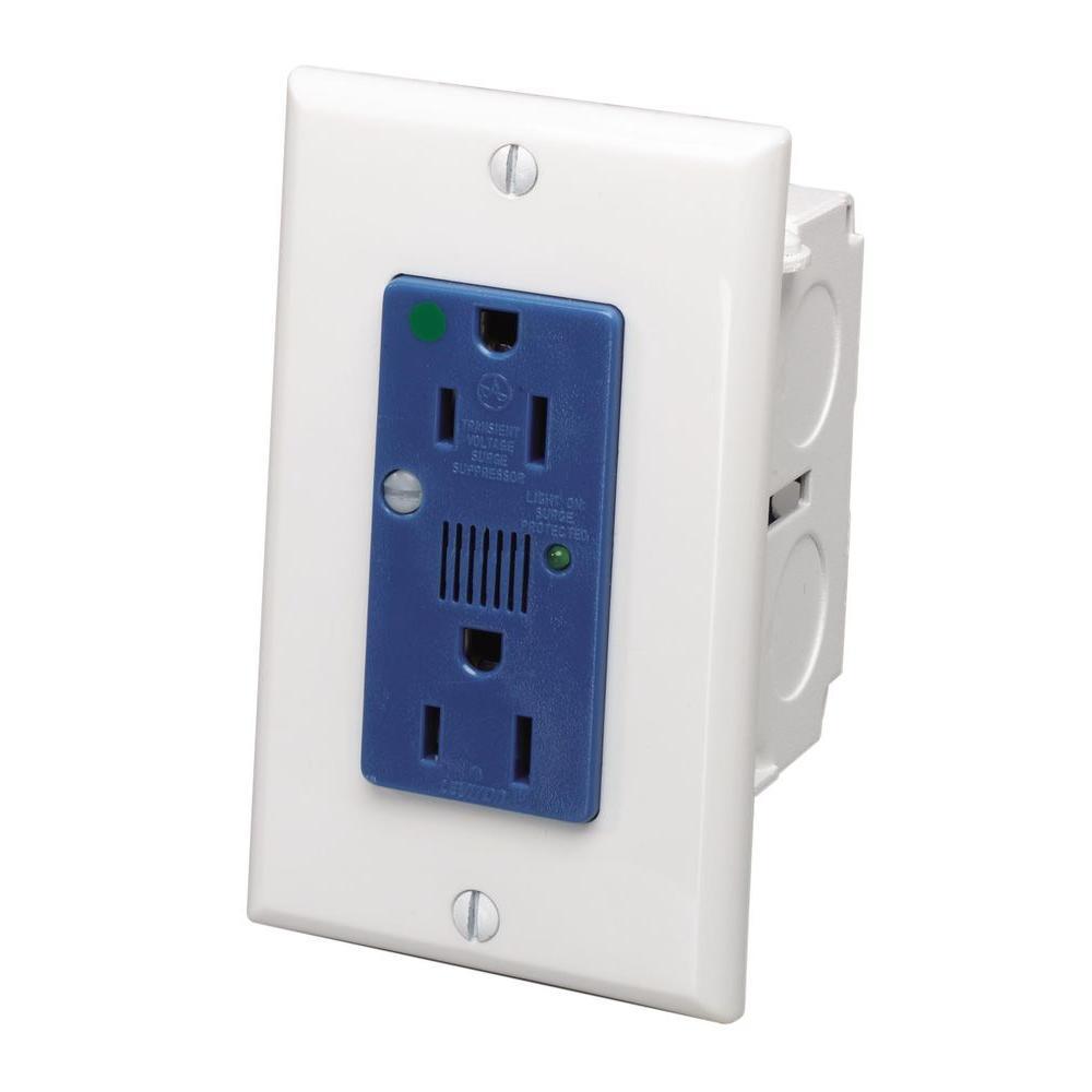 Leviton Structured Media J-Box Surge Outlet Protective Kit-47605-ACS ...
